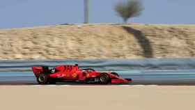 Sebastian Vettel durante el Gran Premio de Bahrain