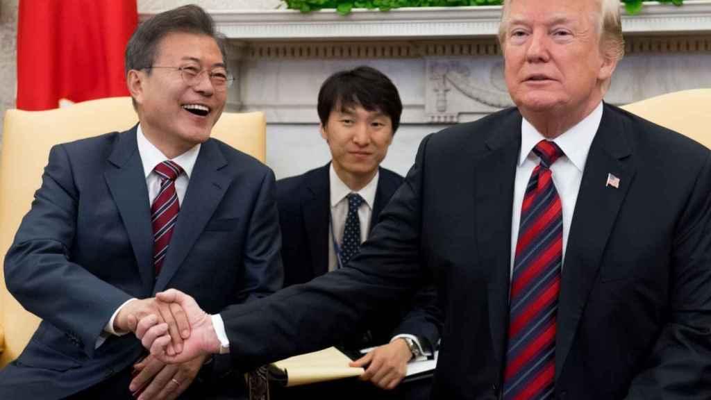 Moon Jae-in y Donald Trump.