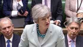 May, este viernes durante su discurso en el Parlamento británico