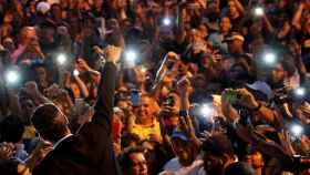 Juan Guaidó en un reciente acto público.