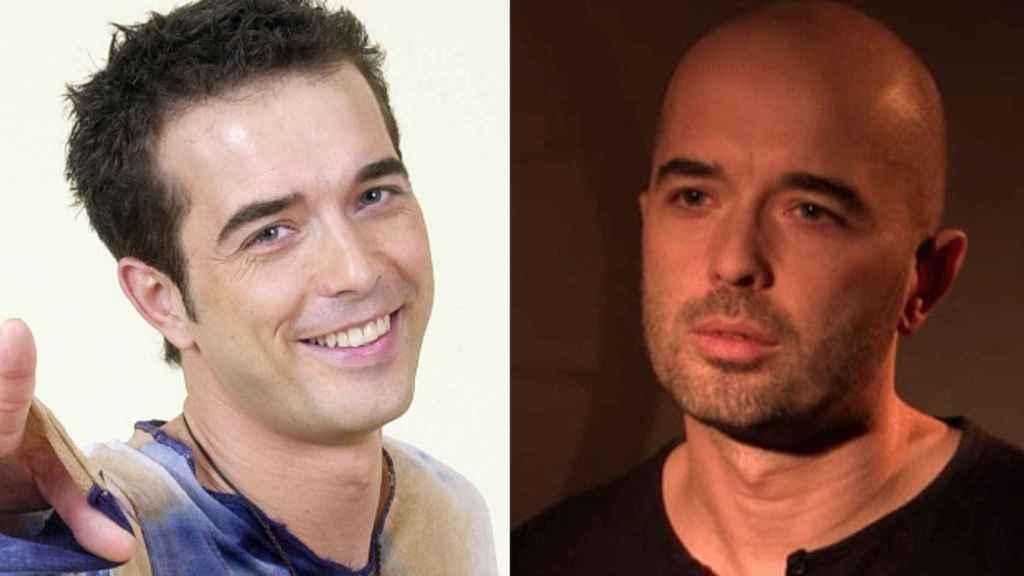 El antes y el después de un solo hombre que parece dos.