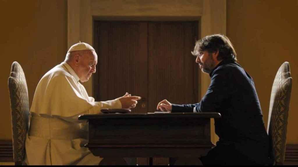 El Papa Francisco durante la entrevista con Jordi Évole.