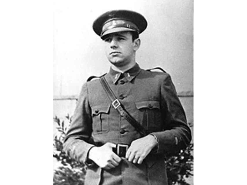 Otro retrato de Fernando Rodríguez Miaja durante la guerra.