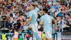 Iago Aspas, tras anotar un gol. Foto Twitter: (@RCCelta)
