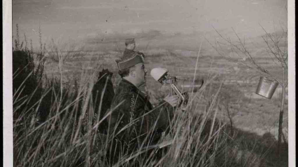 Franco en el frente de Cataluña en el invierno de 1938