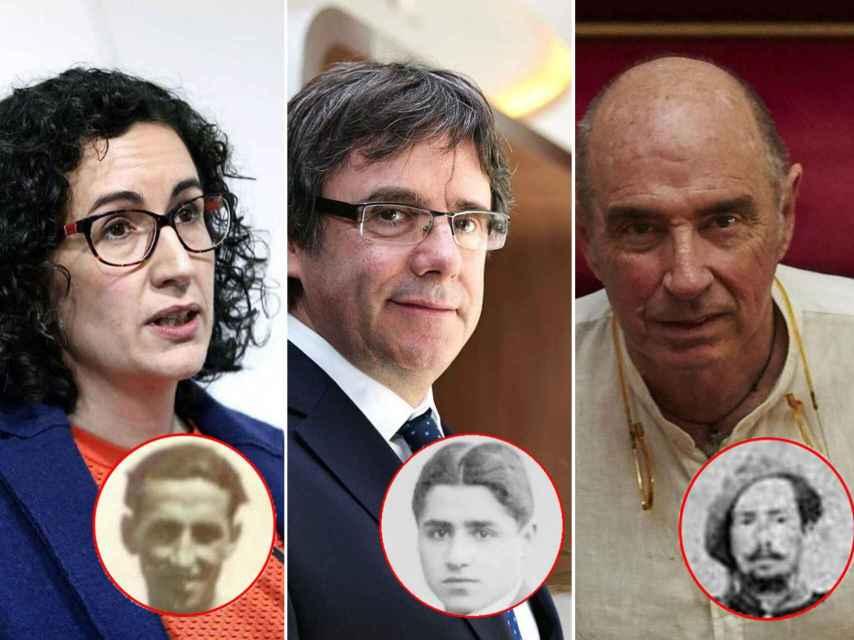 Marta Rovira, Carles Puigdemont y Lluis Llach.