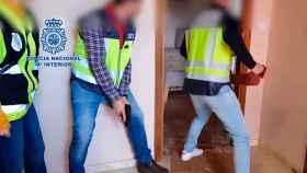 La operación policial llevada a cabo contra  un grupo itinerante de proxenetas.