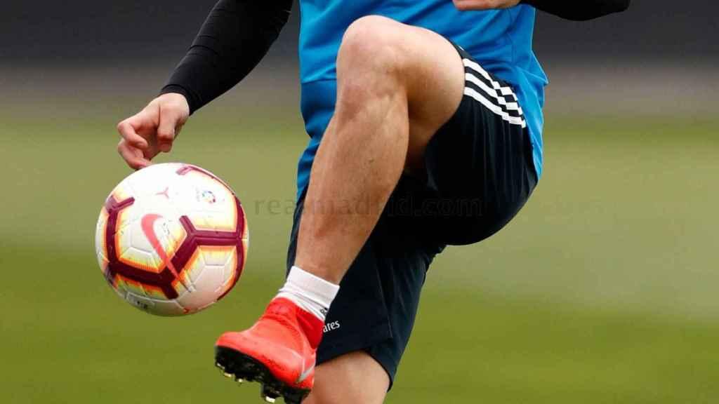 Carvajal se entrena con el Real Madrid