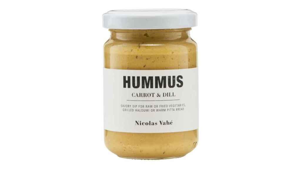 Envase de uno de los hummus señalados por la Aecosan.