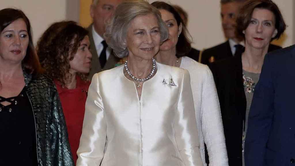 La reina Sofía en Palma de Mallorca.