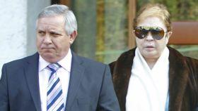 Daniel Pontes, su heredero universal, junto a Lina Morgan en imagen de archivo.