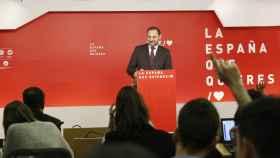 José Luis Ábalos, secretario de Organización del PSOE, este lunes en Ferraz.