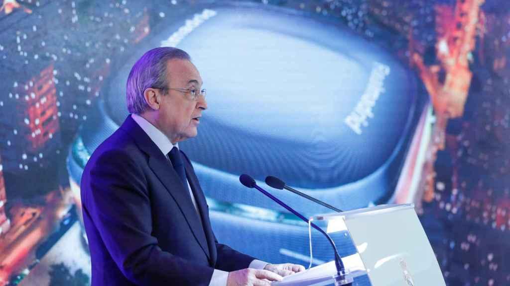 Florentino Pérez, en la presentación del Nuevo Santiago Bernabéu