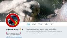 Portada del perfil separatista @trollblocknet para promocionar el boicot a los trolls unionistas.