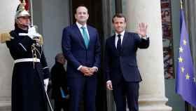 Enmanuel Macron, presidente de Francia, y Leo Varadkar, primer ministro de Irlanda.
