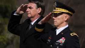 Bolsonaro en una ceremonia en Estados Unidos.