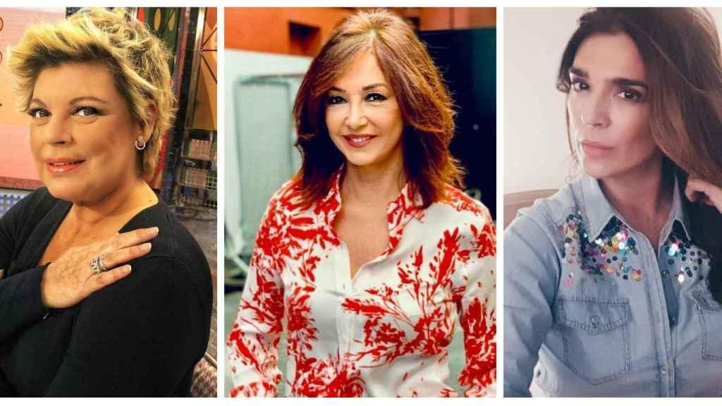 Terelu Campos, Ana Rosa Quintana y Raquel Bollo en un combo JALEOS.