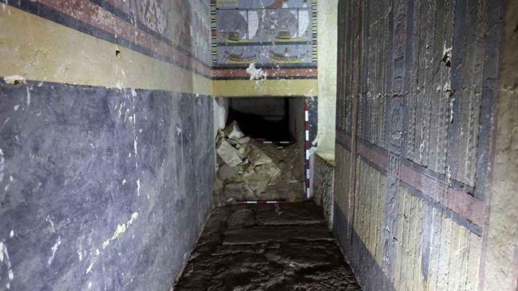 La tumba hallada en el sur de Saqqara.