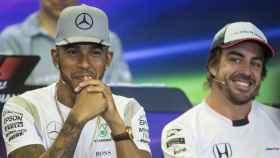 Hamilton y Fernando Alonso