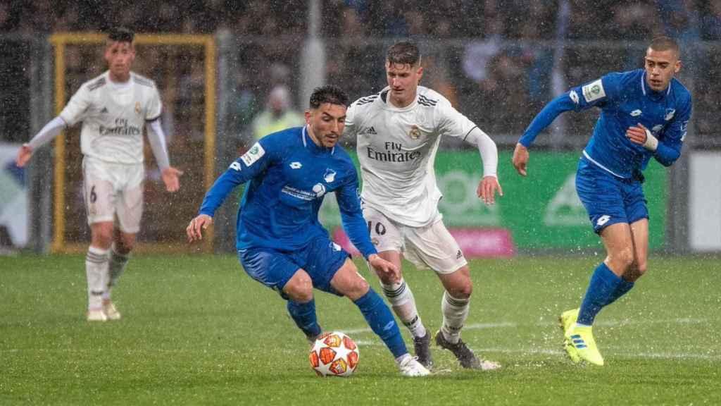 Hoffenheim - Real Madrid Juvenil A de la UEFA Youth League. Foto: Twitter (@achtzehn99_en)
