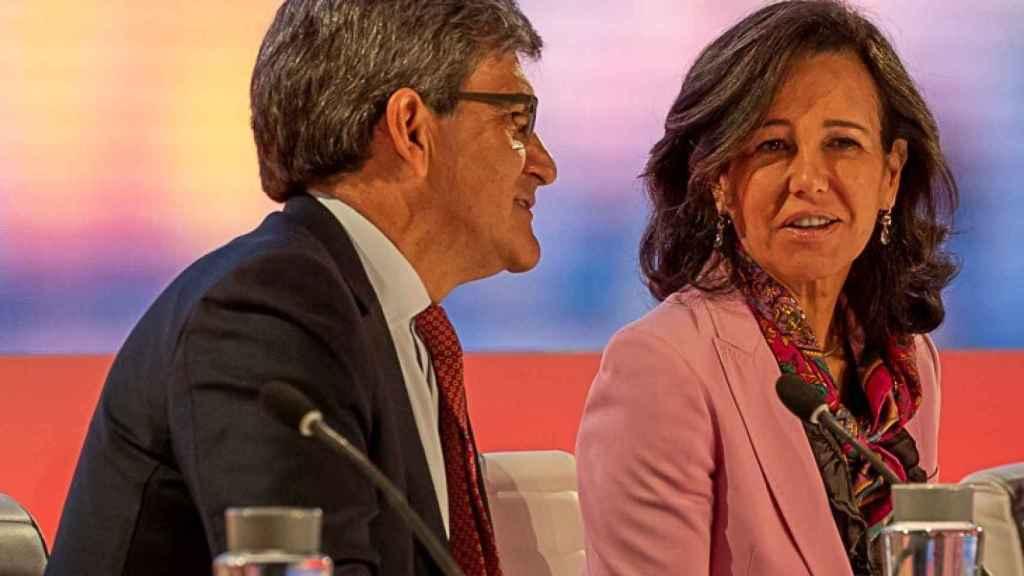 José Antonio Álvarez, CEO del Santander y Ana Botín, presidenta de la entidad, durante el Investor Day.