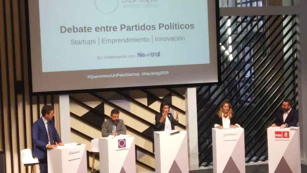 Imagen del debate organizado por la Asociación Española de Start-ups y moderado por la periodista Ana Pastor.