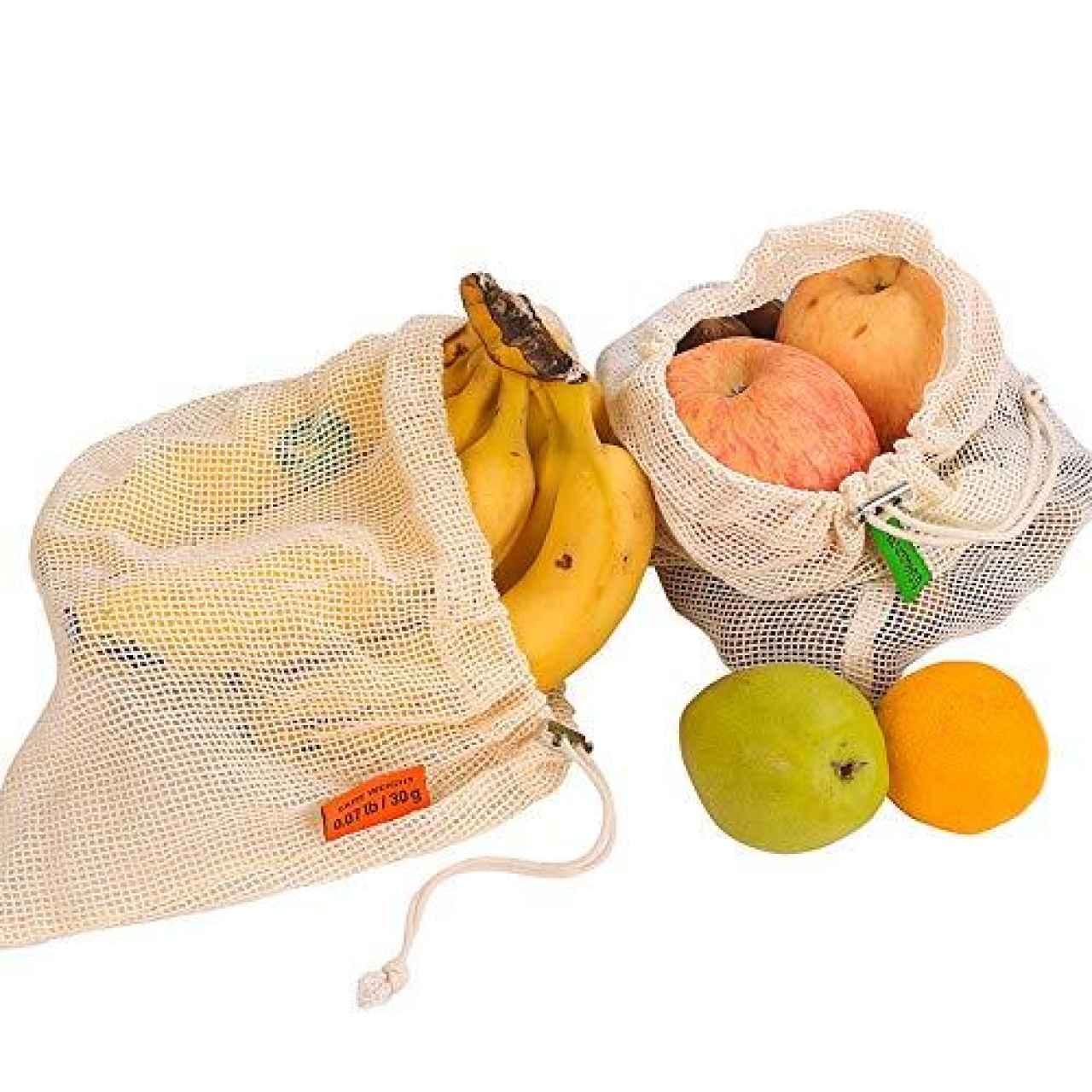 Bolsas de malla reutilizables para fruta