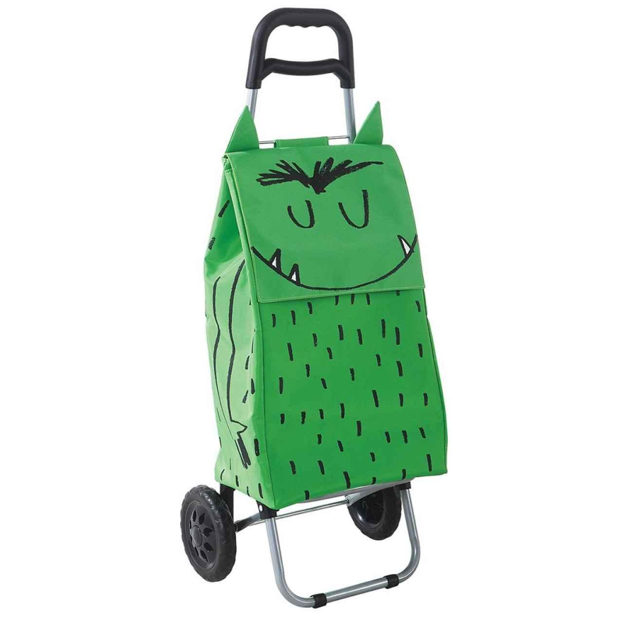 Laroom Carro Compra, Fabric y Acero Inoxidable, Verde