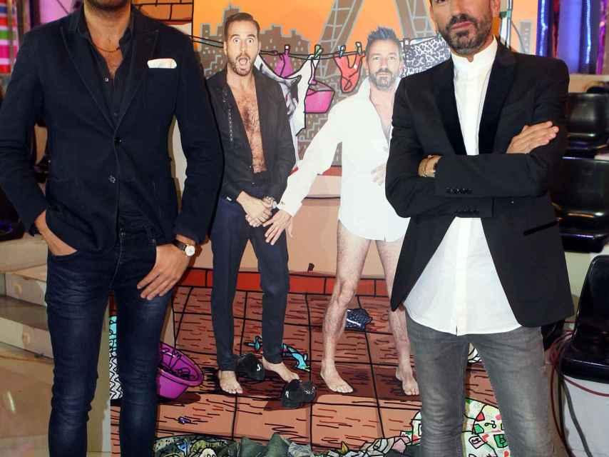 Raúl Prieto junto a uno de sus excompañeros de 'La Fábrica', David Valldeperas.