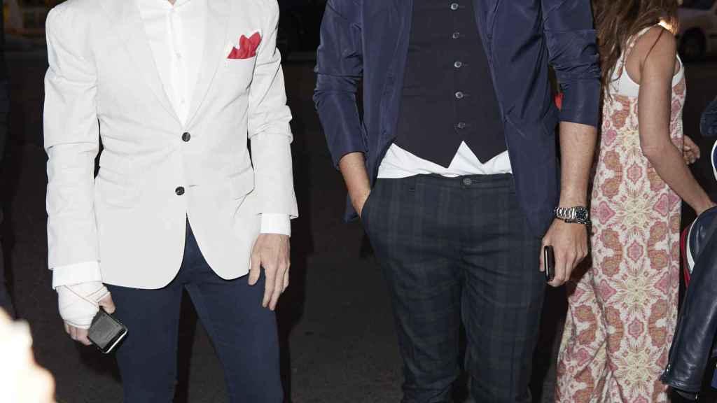 Prieto al lado de su pareja sentimental, Joaquín Torres.