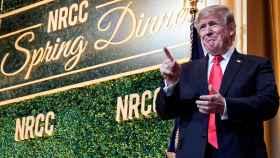 Donald Trump en la cena de primavera del Partido Republicano.
