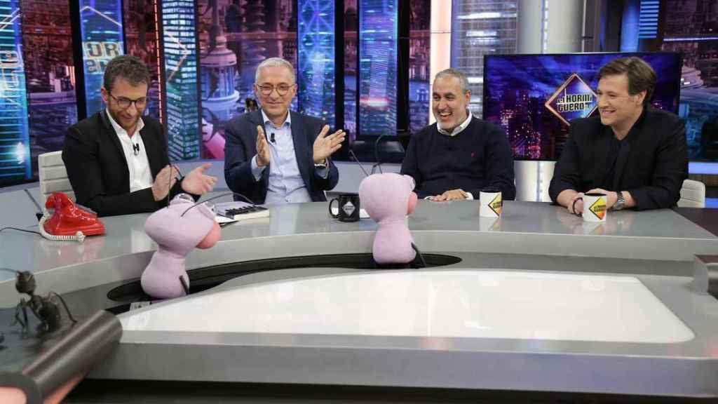 Acompañaron a Sardá, el director Jorge Salvador y el humorista Carlos Latre.