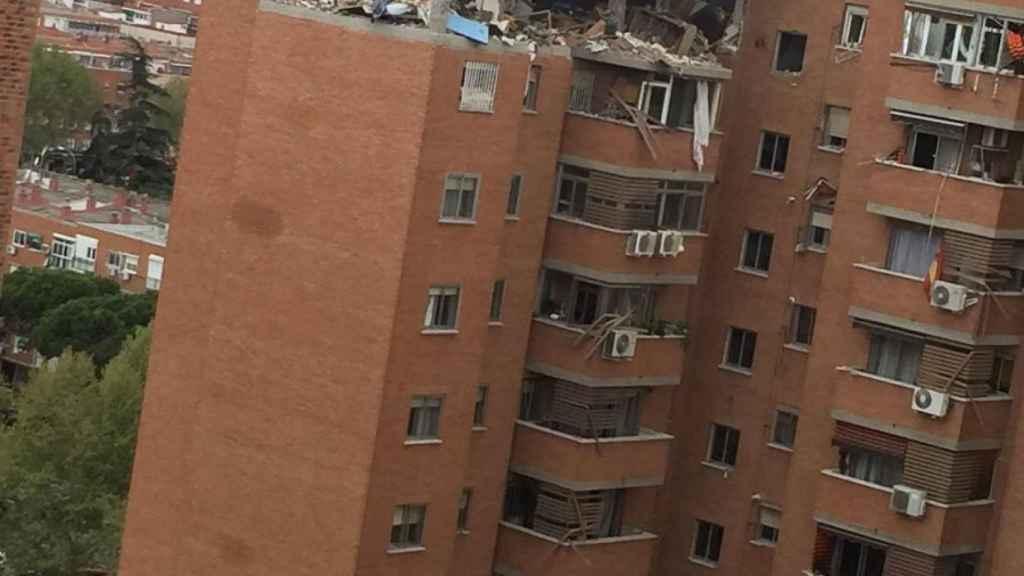 Explosión de gas en Vallecas.