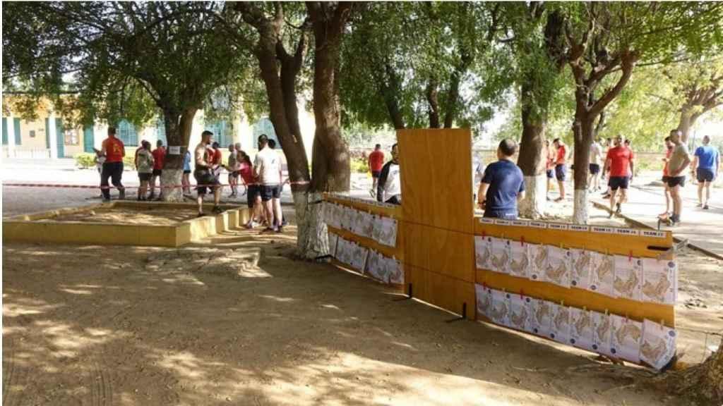 Prueba deportiva celebrada en la base de Koulikoro tras el ataque yihadista.