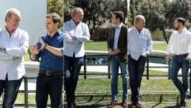 Bertín Osborne durante su entrevista con Albert Rivera, Pablo Casado y Santiago Abascal.