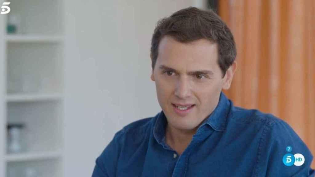Albert Rivera durante la entrevista con Bertín Osborne en 'Mi casa es la tuya'.