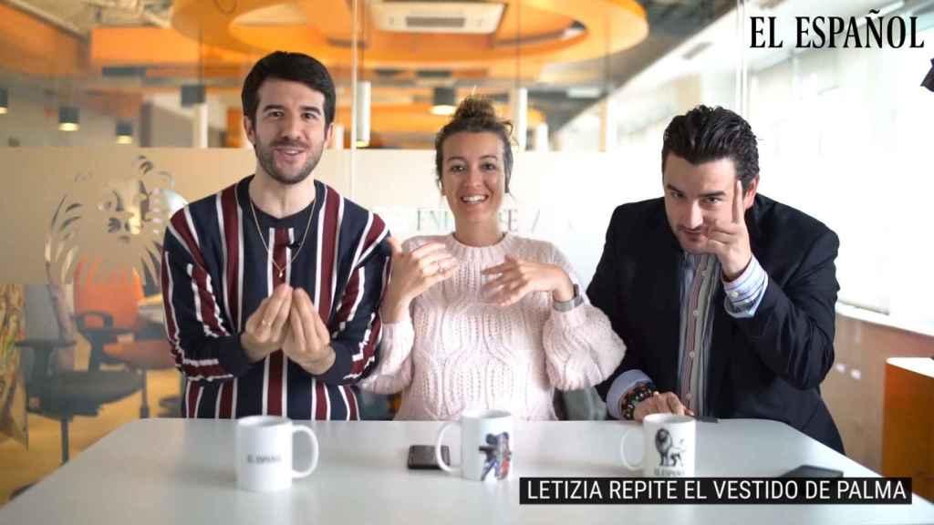 Raúl Rodríguez, Cristina Rodrigo y Jesús Carmona presentan 'La cena de los Jaleos'.