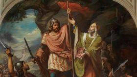 'Don Pelayo en Covadonga'; de Luis de Madrazo.