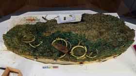 Parte del tesoro hallado en Jersey.