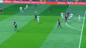 Gol anulado a Benzema por fuera de juego previo