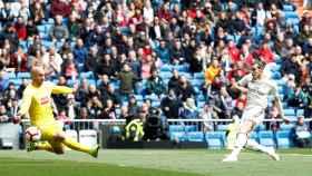 Gareth Bale falla la primera ocasión del Real Madrid ante el Eibar
