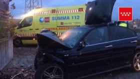 Imagen del accidente ocurrido en Leganés.