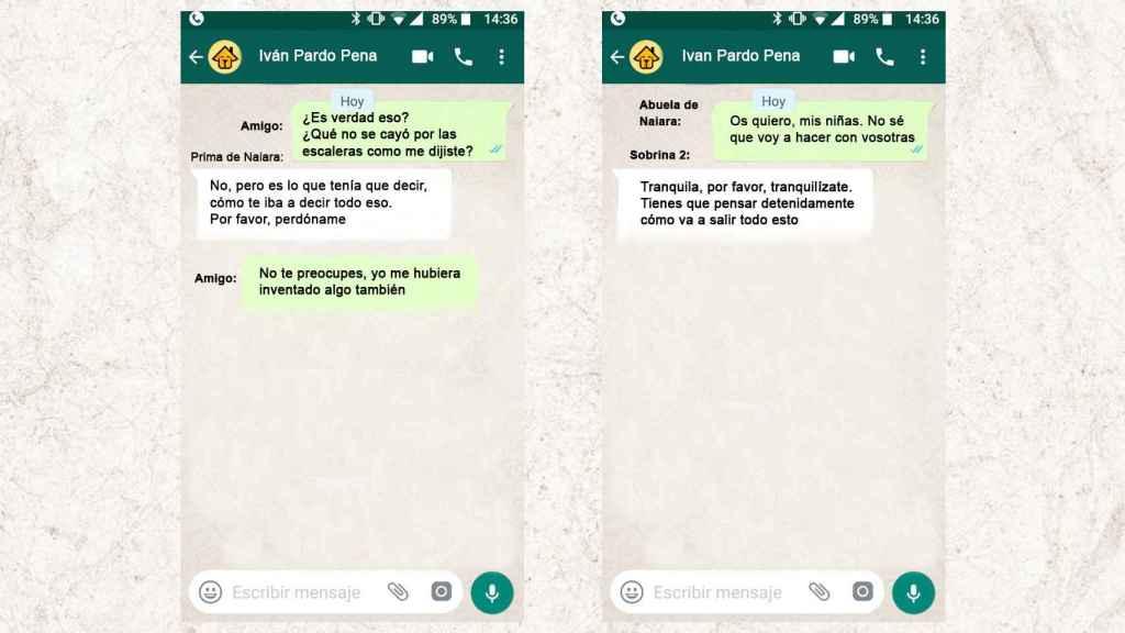Otra de las conversaciones de whatsapp que revelan el modo en que se la torturó.