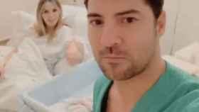 David Bisbal y Rosanna Zanetti en el hospital.