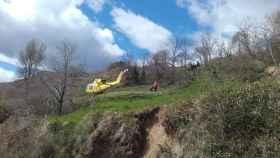 Imagen de las labores de rescate del 112