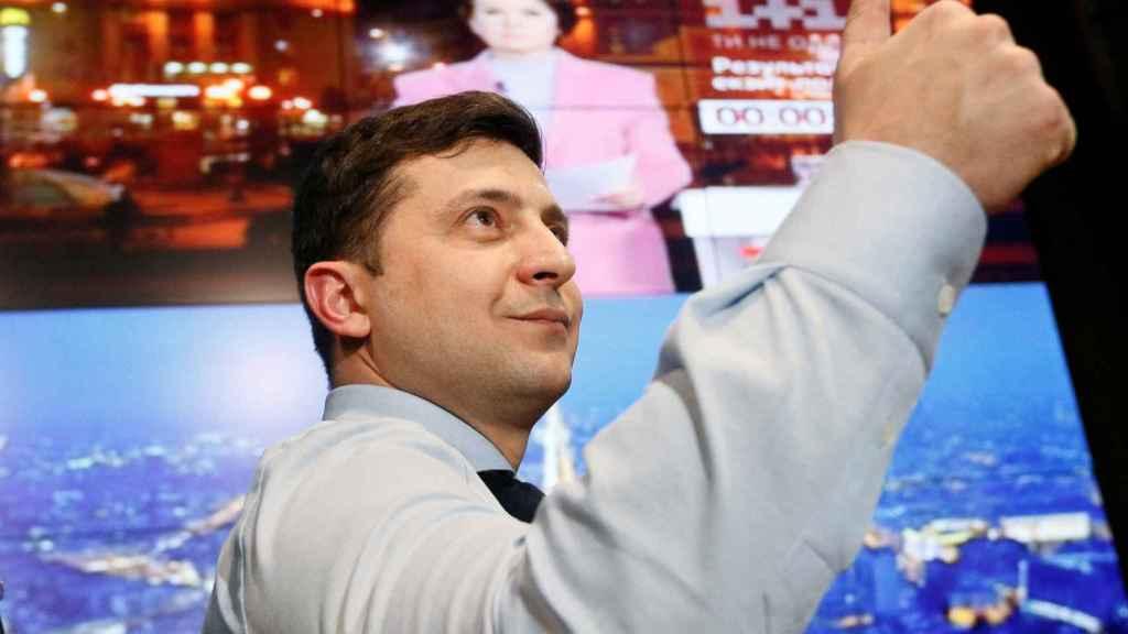 Zelenskiy celebra los resultados de la primera vuelta