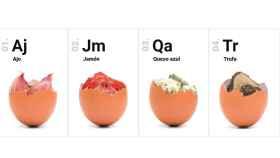 Huevos de sabores: ajo, trufa, jamón y queso azul para una experiencia diferente