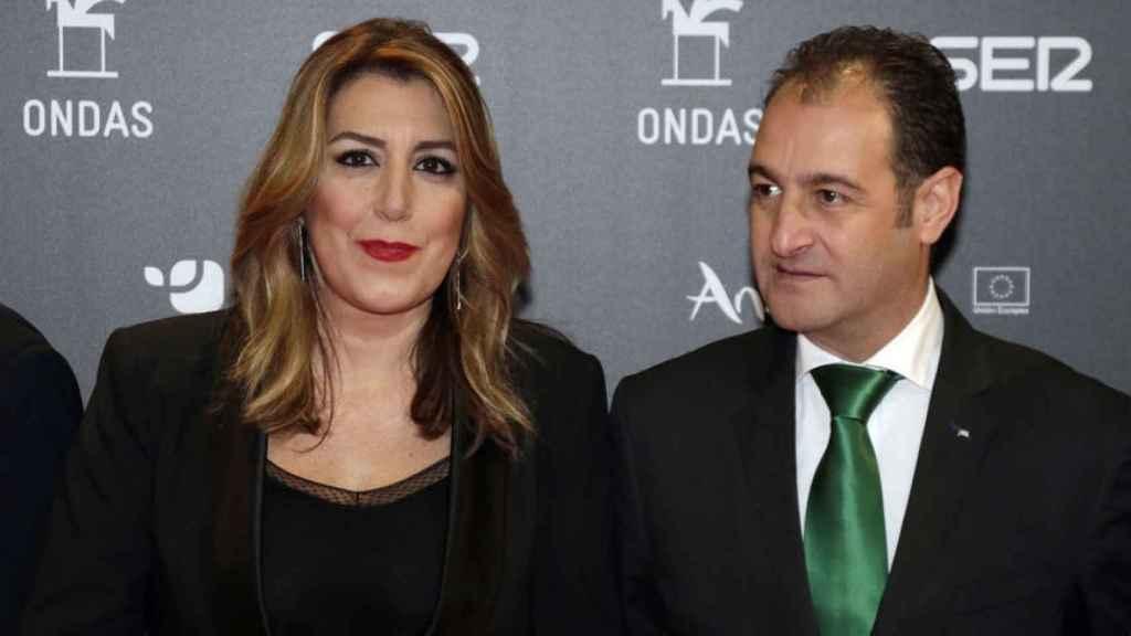 Susana Díaz y José María Moriche en una imagen de archivo.