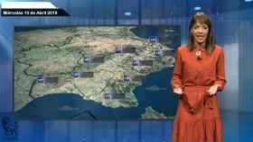 Fotógrama de la predicción del tiempo de este miércoles.