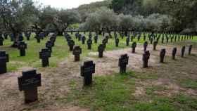 El cementerio de Caucos de Yuste (Badajoz) es el único cementerio militar alemán en nuestro país. Foto: EFE.